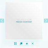 Template for placement of media content Royalty Free Stock Photos