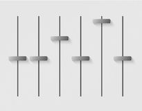 User interface power slider buttons Royalty Free Stock Images