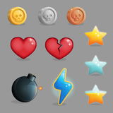 User interface set of game icons Stock Photos