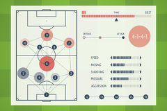 User Interface of Soccer Tactic Table. Royalty Free Stock Photo