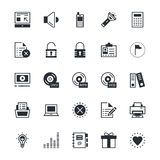 User Interface and Web Colored Vector Icons 2 Stock Image
