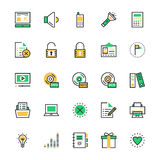 User Interface and Web Colored Vector Icons 2 Stock Photography