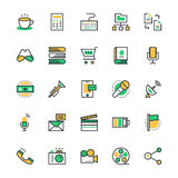 User Interface and Web Colored Vector Icons 7 Royalty Free Stock Images