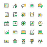 User Interface and Web Colored Vector Icons 8 Royalty Free Stock Image