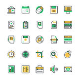 User Interface and Web Colored Vector Icons 1 Stock Image