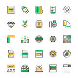 User Interface and Web Colored Vector Icons 12 Stock Photo