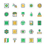 User Interface and Web Colored Vector Icons 11 Royalty Free Stock Photography