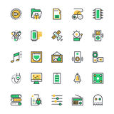 User Interface and Web Colored Vector Icons 10 Stock Photography