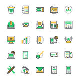 User Interface and Web Colored Vector Icons 3 Royalty Free Stock Photography