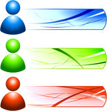 User Internet Icon People with Banners Stock Image