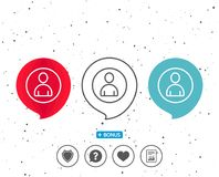 User line icon. Profile Avatar sign. Royalty Free Stock Images