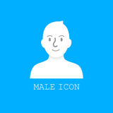 User male icon vector. Stock Image