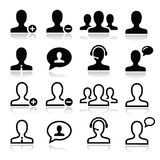 User man avatar icons set Stock Photography