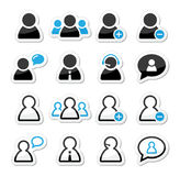 User man icon labels set for website Stock Image