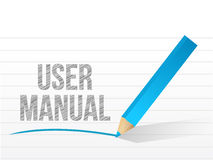 User manual written on a notepad paper Royalty Free Stock Images