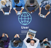 User Member System Usability Identity Password Concept Stock Photography