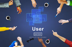 User Member System Usability Identity Password Concept Royalty Free Stock Photos