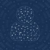 User network symbol. Appealing constellation style symbol. Fancy network style. Modern design. User symbol for infographics or presentation Stock Photo