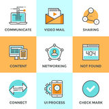 User networking line icons set Stock Photo