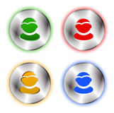 User profile colorful icon set Royalty Free Stock Photo