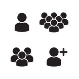 User Profile Group Icons Set Royalty Free Stock Photos