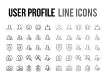 User profile vector line icon for app, mobile website responsive. User profile vector line icon for app and mobile website responsive Royalty Free Stock Photos