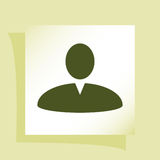 User profile web icon  illustration Royalty Free Stock Photos