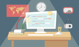 User programming coding in flat design stylish. Vector illustration. Eps 10. Stock Photo