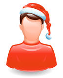 User in santa cap Royalty Free Stock Image