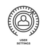 User Settings Line Icon Royalty Free Stock Photo