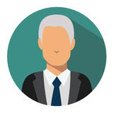 User sign icon. Person symbol. Human avatar. Old rich man icon Royalty Free Stock Images