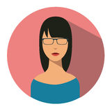 User sign icon. Person symbol. Human avatar. Successful woman icon Stock Photo
