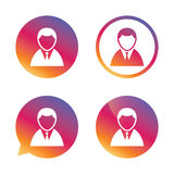 User sign icon. Person symbol. Royalty Free Stock Images