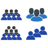 User Staff Flat Icons. User Staff flat vector pictogram set. An isolated icons on a white background Stock Image