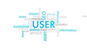 User, Typography Animation stock illustration