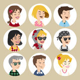 User  vector icons Royalty Free Stock Photo