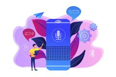 Smart speaker concept vector illustration. vector illustration