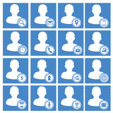 User Web Icons Set. Blue version Stock Photography