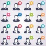 User web stickers Stock Photos