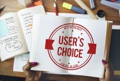 User& x27; s挑选商业密码卖主概念 免版税库存图片