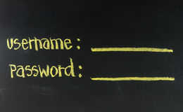Username and password Stock Photography