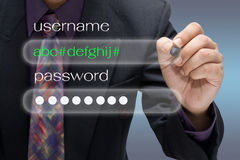 Username and password Royalty Free Stock Photo