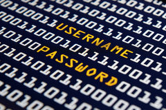 Username and Password - Internet Royalty Free Stock Image