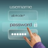 Username and password Royalty Free Stock Image