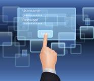 Username und Passwort Lizenzfreie Stockfotos