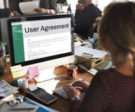 Users Agreement Terms and Conditions Rule Policy Regulation Conc Stock Image