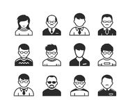 Users avatar icons Royalty Free Stock Photos