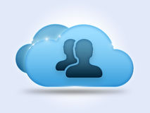 Users cloud computing concept Stock Photography