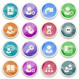 Users color icons. Stock Images