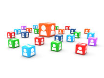 Users cubes Royalty Free Stock Photos